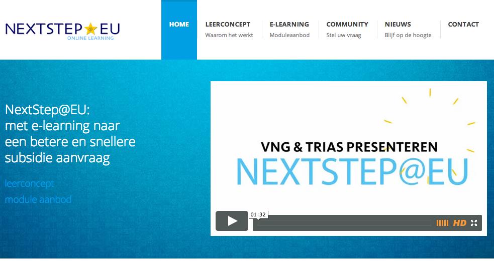 Vereniging Nederlanse Gemeenten Trias E-learning platform